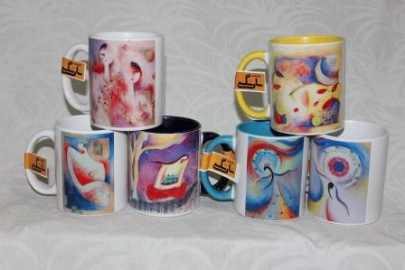 ماگ با طرحهایی از گیتی نوروزیان